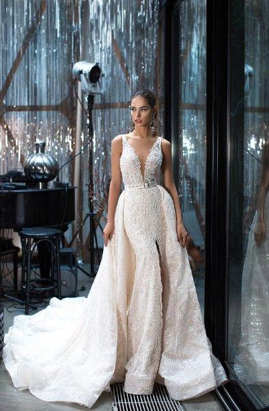 فستان-عروس-ذيل-طويل