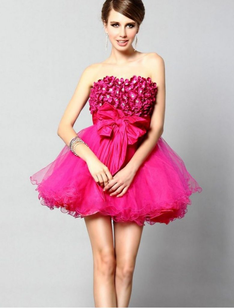 فستان-فوشيا-قصير