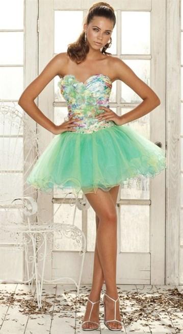 فستان-قصير-اخضر
