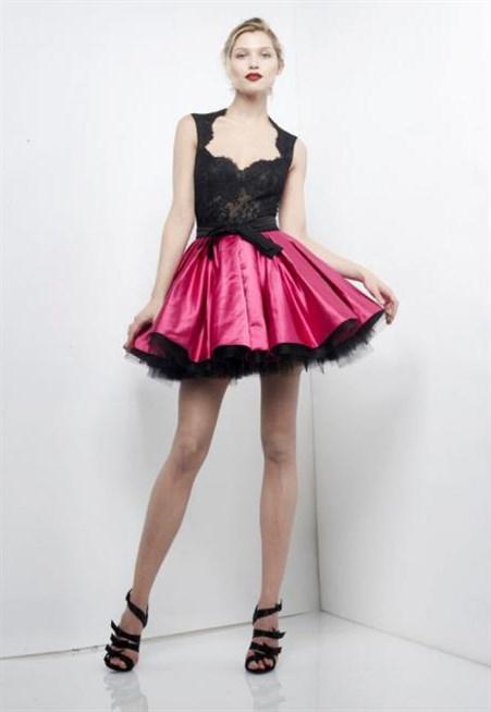 فستان-قصير-دانتيل