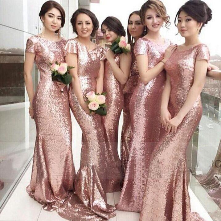 فستان-لامع-لوصيفات-العروس