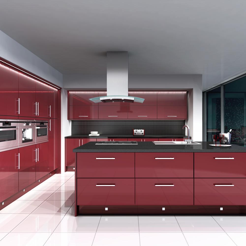 مطبخ-باللون-الاحمر-والاسود-في-الفواصل