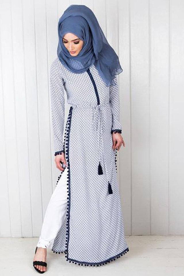 ملابس-مقلمة-حجاب-ازرق