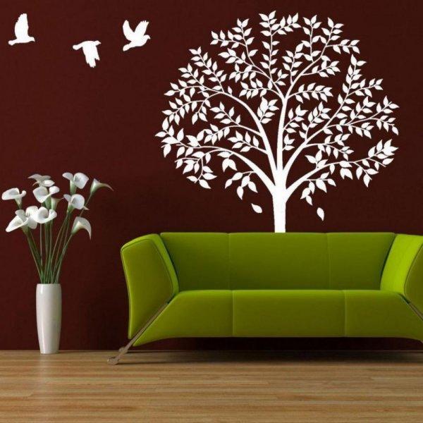ورق-حائط-ثلاثي-برسومات-الاشجار