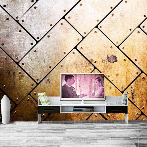 ورق-حائط-ثلاثي-يشبه-قطع-السفينة-الحديدية