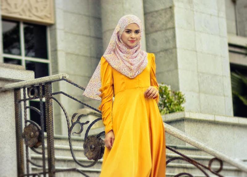 a29d49dc6 صور ملابس محجبات باللون الاصفر - مشاهير