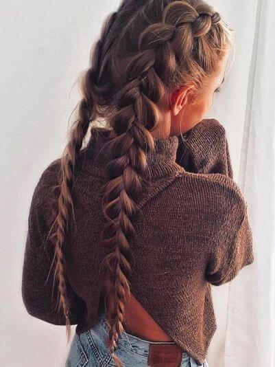 ضفيرتين-الشعر