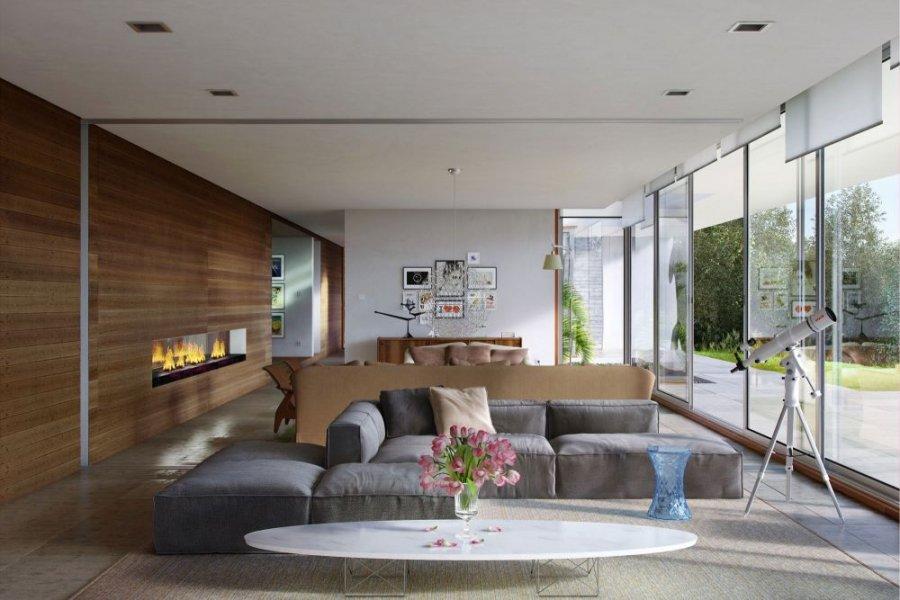 غرفة-الجلوس-بجدار-خشبي-ومدفأة