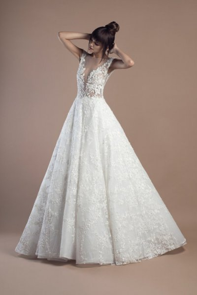 فستان-زفاف-ابيض-منفوش