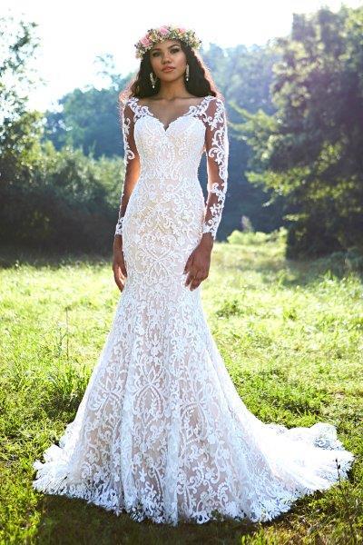فستان-زفاف-بذيل