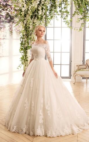 فستان-زفاف-بيج-منفوش