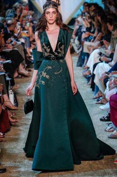 فستان-مخمل-اخضر