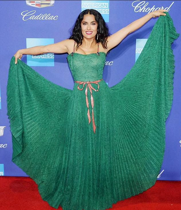 النجمة-بفستان-اخضر-من-جوتشي