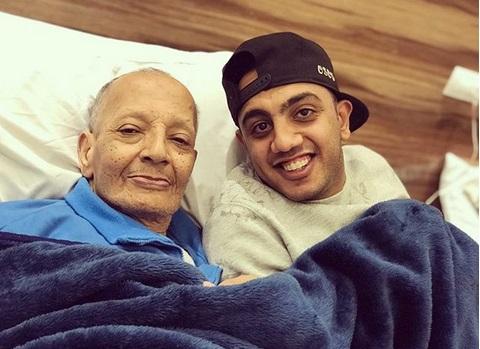 اوس اوس مع والده قبل وفاته