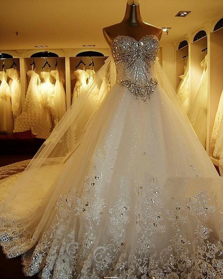 فستان-زفاف-مطرز