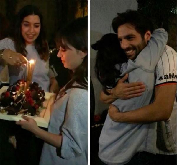 سيركان شاي اوغلو يحتفل بعيد ميلاد حبيبته