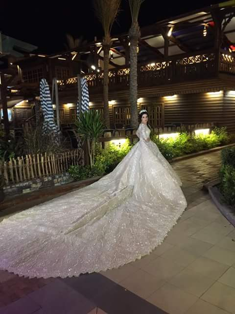 فستان زفاف زوجة سامو هجرس