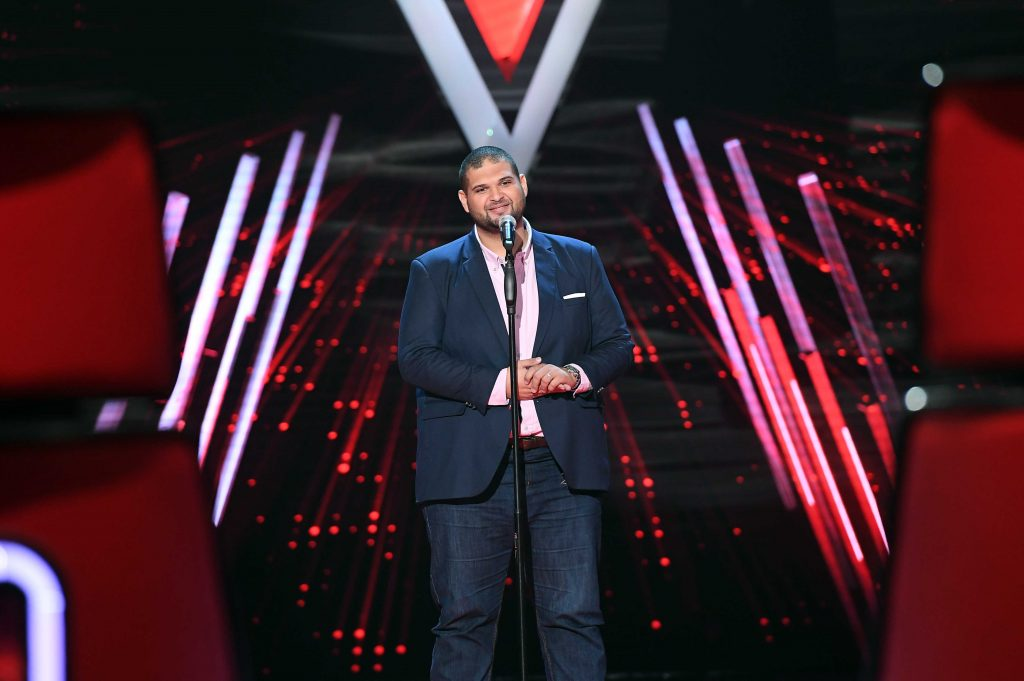 MBC1 & MBC MASR The Voice S4 - Blind 2 - Elissa's team- Khaled Helmy (1)
