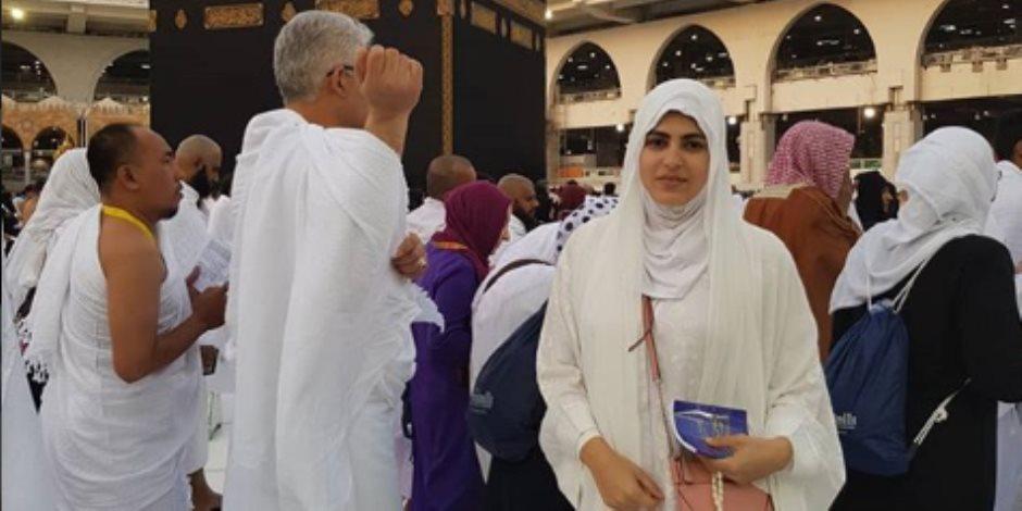 زوجة ماجد المصري في العمرة