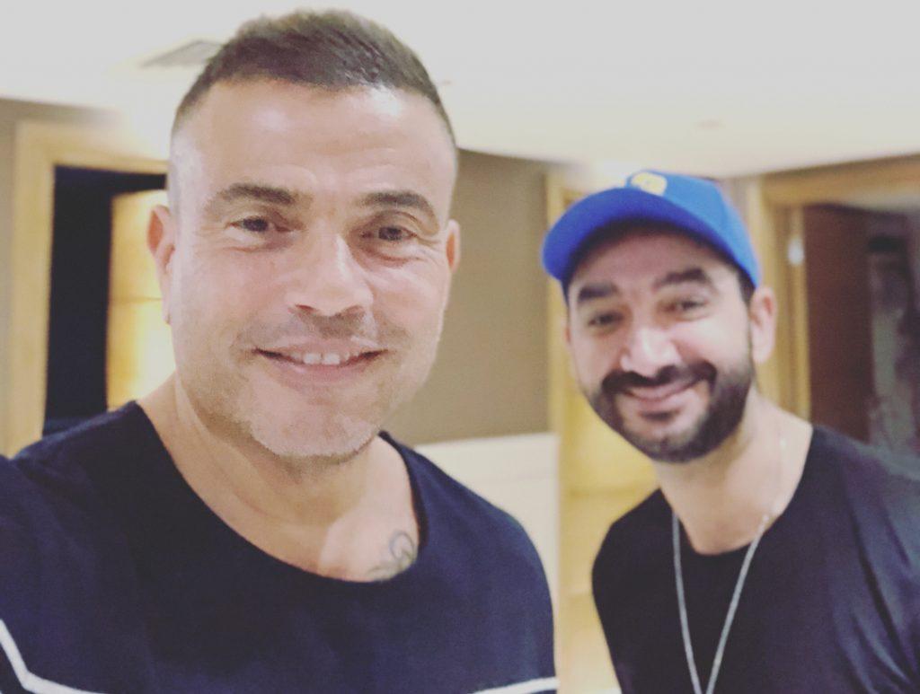عمرو-دياب-و-نادر-حمدى-فى-الاستديو