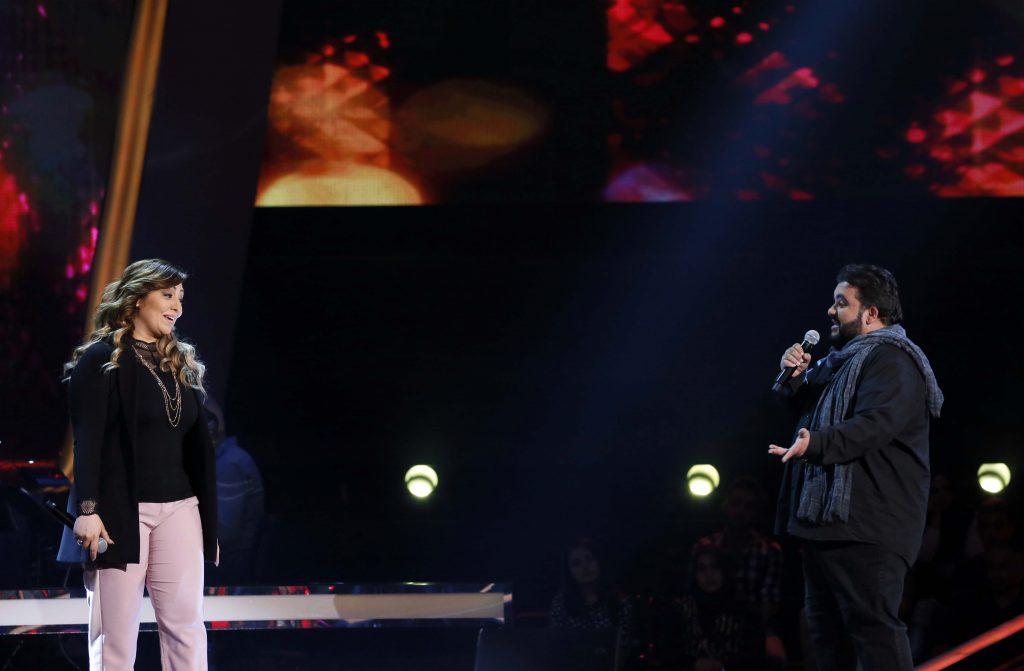 MBC1 & MBC MASR The Voice S4- Battles 1- Ahlam's team- Nermin Wahbe vs Faisal Al Ansary (4)