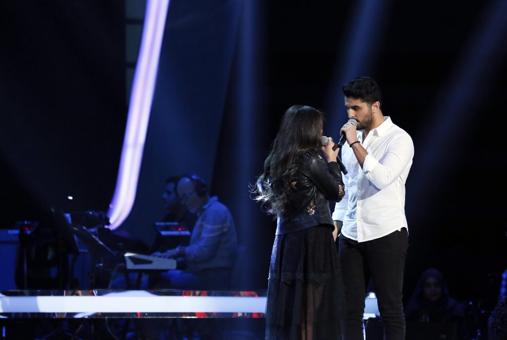 MBC1 & MBC MASR The Voice S4- Battles 1- Assi's team- Maryse Ferzli vs Anass Fahassa (3)