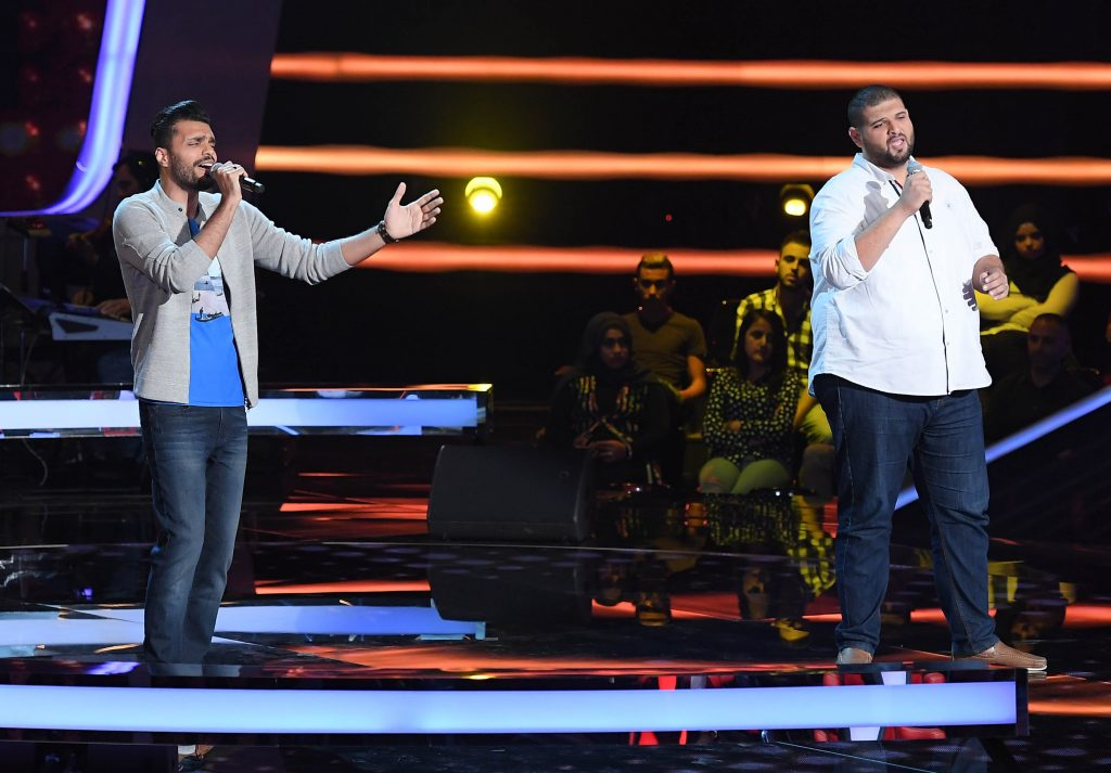 MBC1 & MBC MASR The Voice S4- Battles 1- Elissa's team- Marwan Fagi vs Khaled Helmy (2)