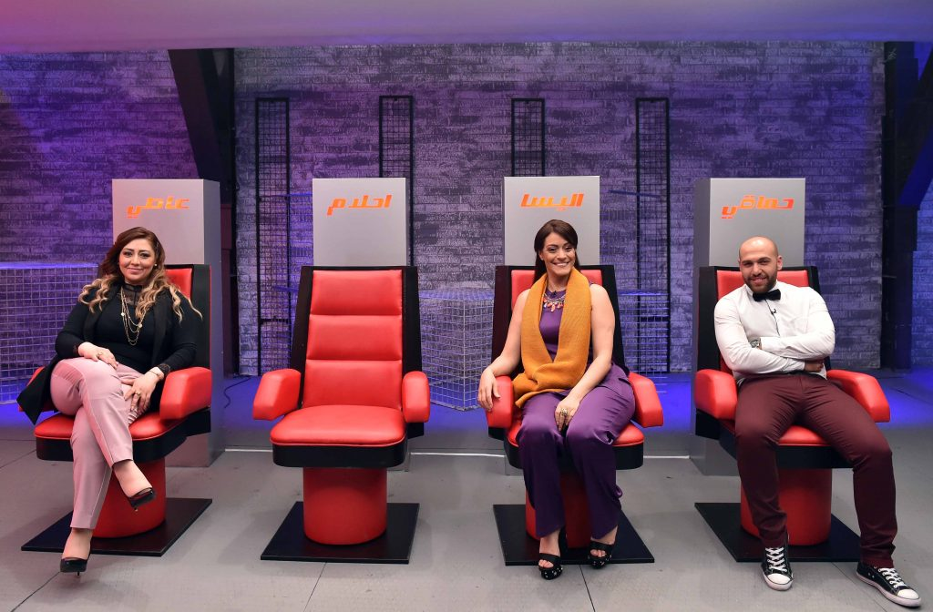 MBC1 & MBC MASR The Voice S4- Battles 1- Steal Area- Nermin Wahbe, Hala Melki and Abboud Agop