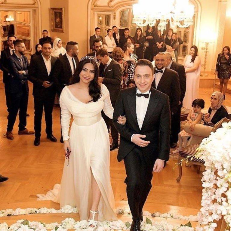 شيرين-وحسام-في-الزفاف