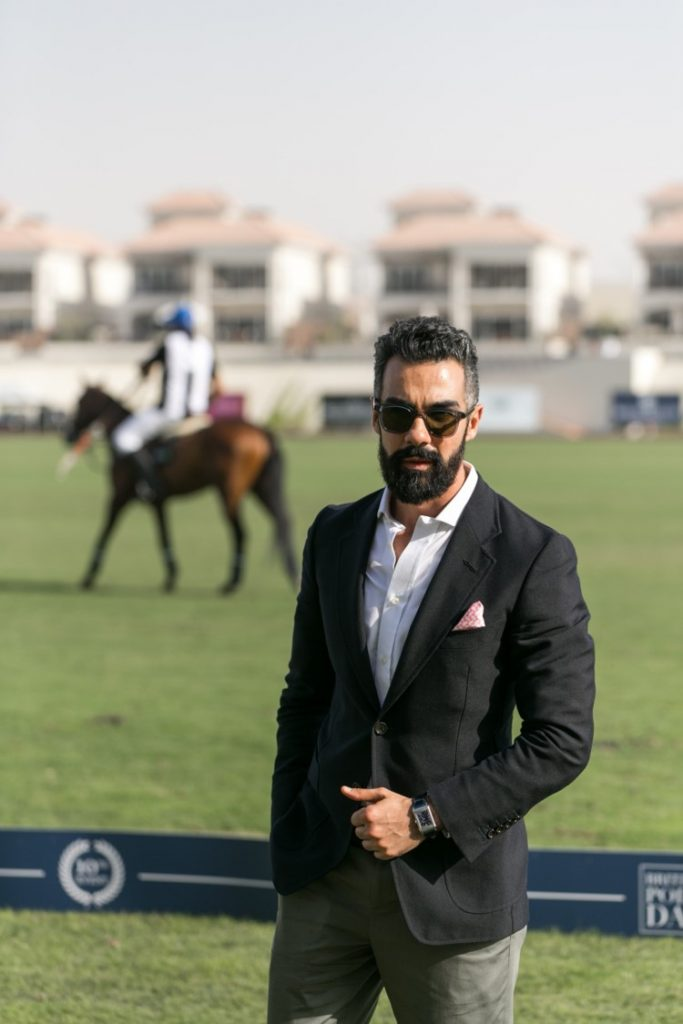 Dr. Hassan Ghoneim wearing the Jaeger-LeCoultre Reverso Tribute Small Second - Fagliano Strap 2018_jaegerlecoultre_britishpolo_083