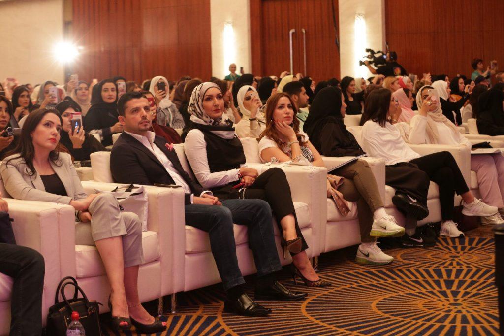 الدكتور مجد ناجي والدكتورة ديما باسم في محاضرة الطاقة الحيوية والشفاء الذاتي