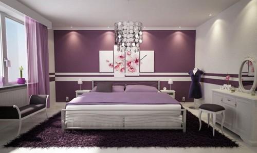 ديكور-غرفة -نوم-باللون-الموف