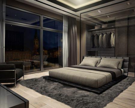 ديكور-غرفة -نوم-باللون-الجراي