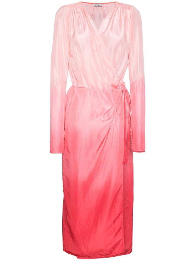 Attico_Pink-Ombre-Wrap-Dress