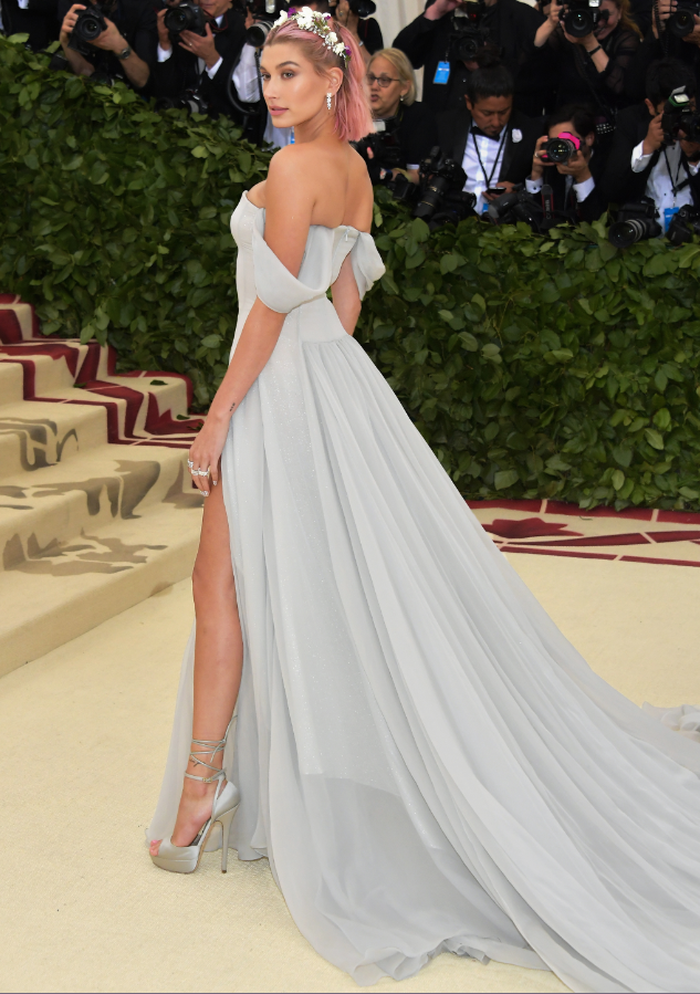Hailey Baldwin shone in Tiffany diamonds at the 2018 Met Gala.