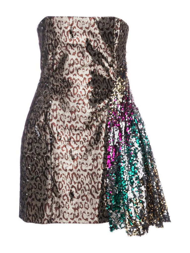 Leopard-Sequin-Dress