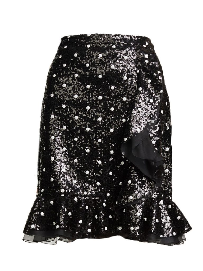 Polkadot-Sequin-Skirt