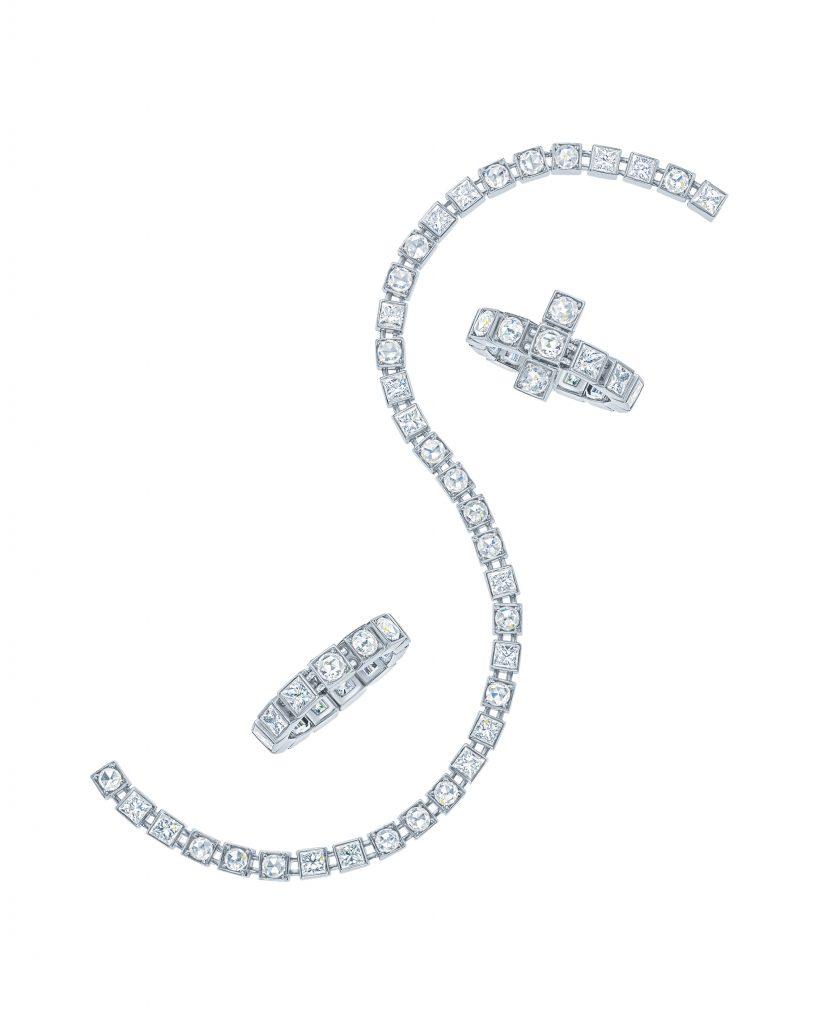 TIFFANY T DIAMOND RINGS AND BRACELET