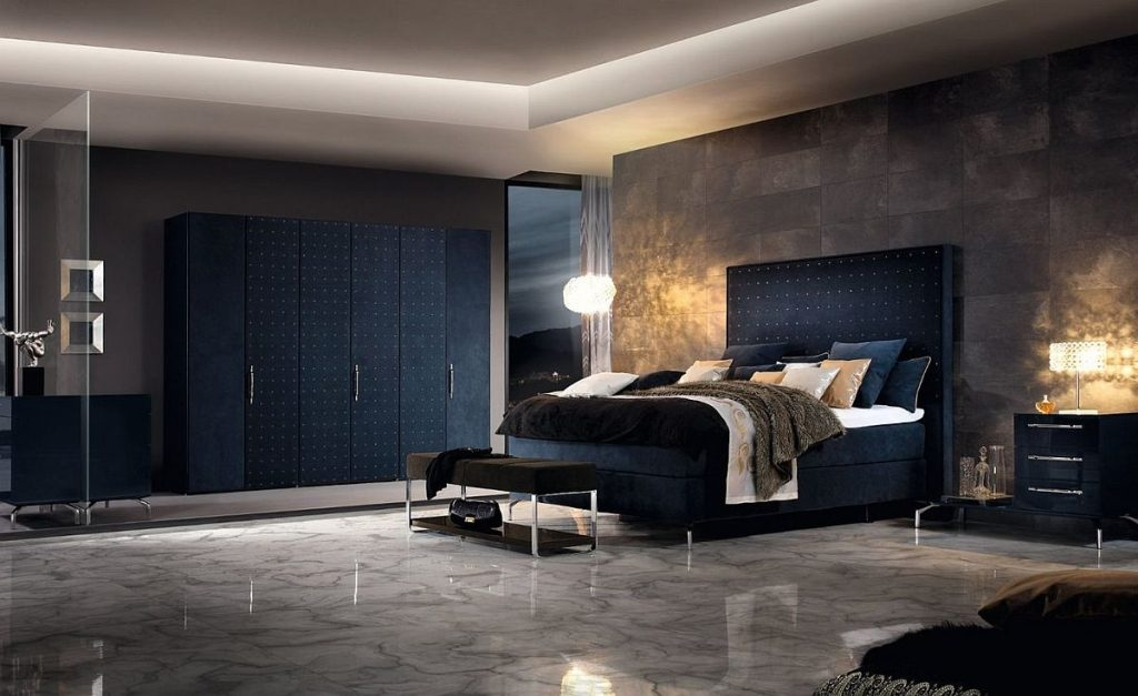 dark-blue-and-concrete-combine-seamlessly-in-this-contemporary-bedroom-sweet-dreams-ultra-comfortable-boxspring-bed-offers-endless-possibilities