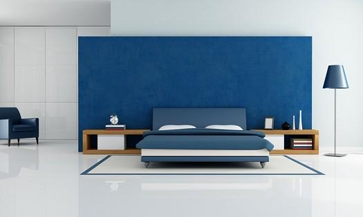 ديكور-غرفة -نوم-باللون-الأزرق