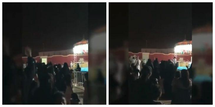 فيديو إطفاء أنور مسرح في السعودية بسبب رقص النساء