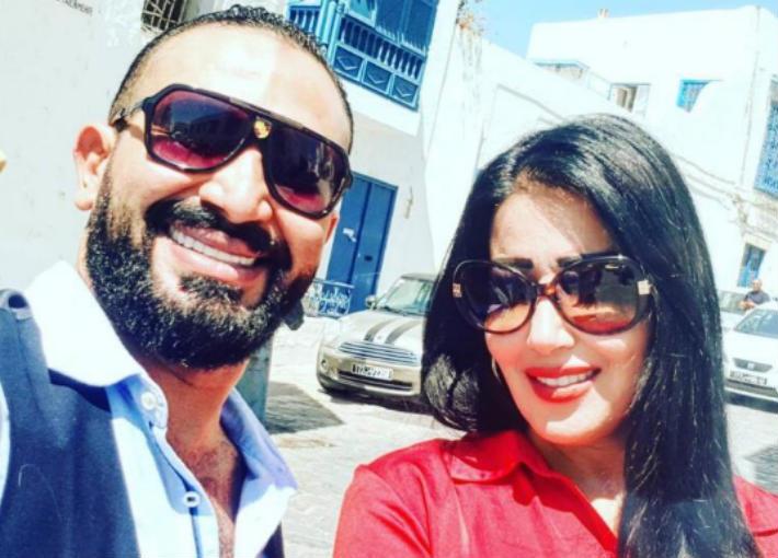 سمية الخشاب وزوجها احمد سعد