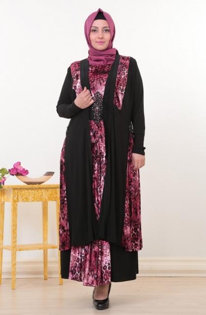 فستان-سهرة-باللون-الفوشيا