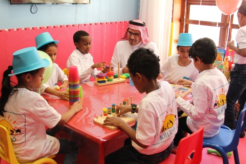 children-from-dar-al-ber-charity-association-at-makkah-millennium-hotel-towers-play