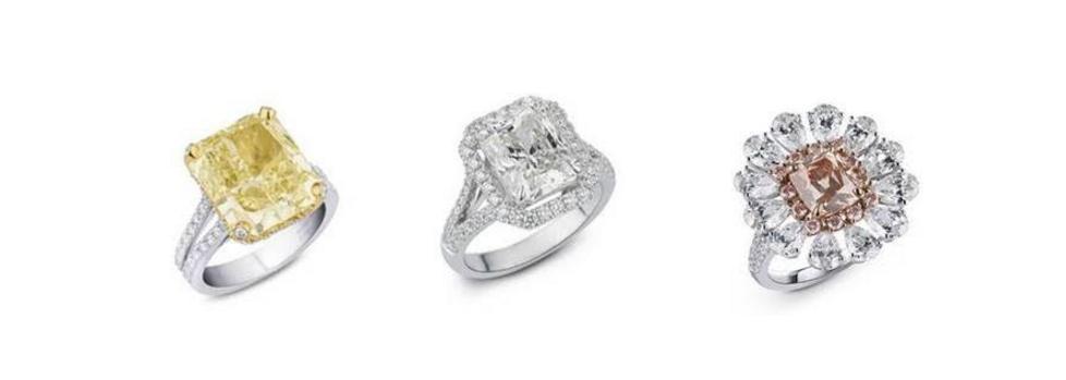 خواتم الماس من دار مجوهرات معوض