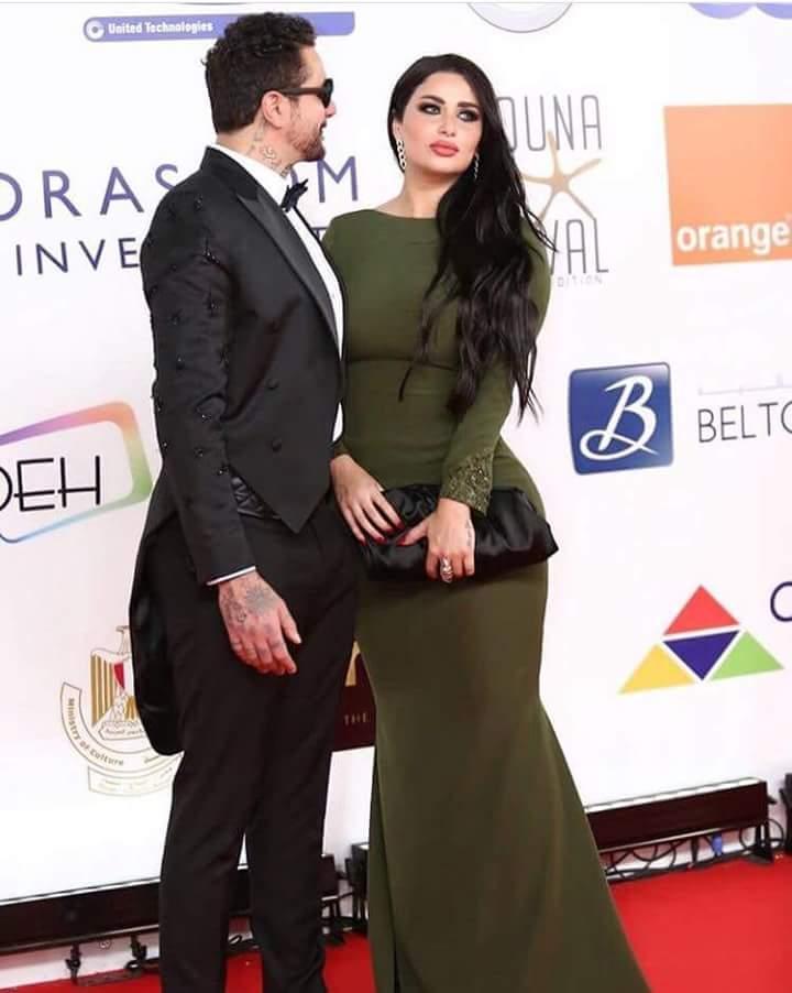 احمد-الفيشاوي-برفقة-زوجته-في-مهرجان-الجونة