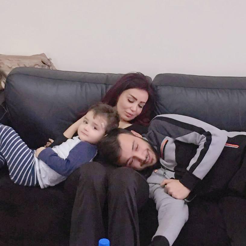 الممثلة-الراحلة-دينا-هارون-وزوجها-وابنها-الوحيد-كرم