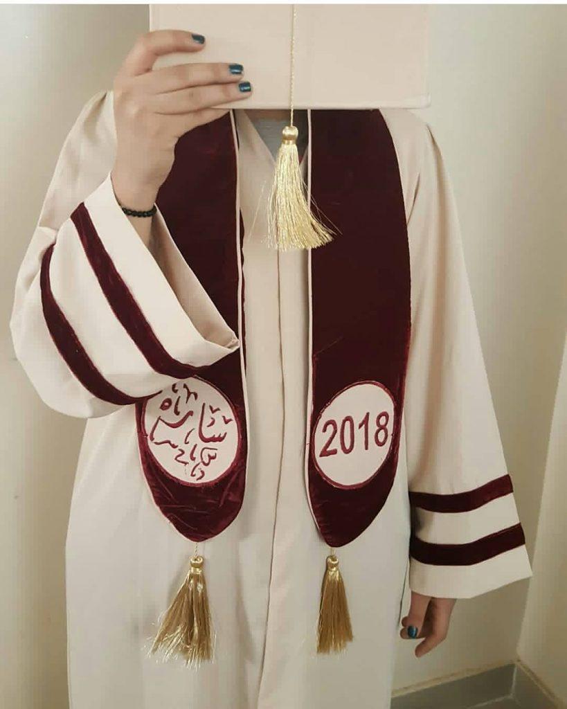 عبايات تخرج 2019 عنابي