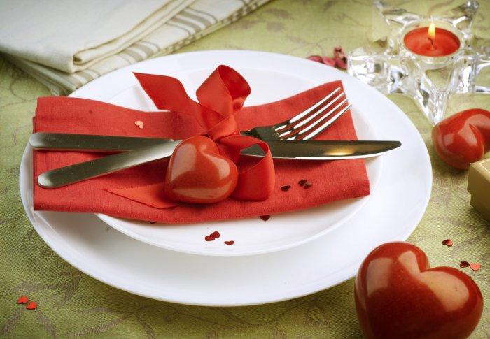 عشاء رومانسي للعروسين