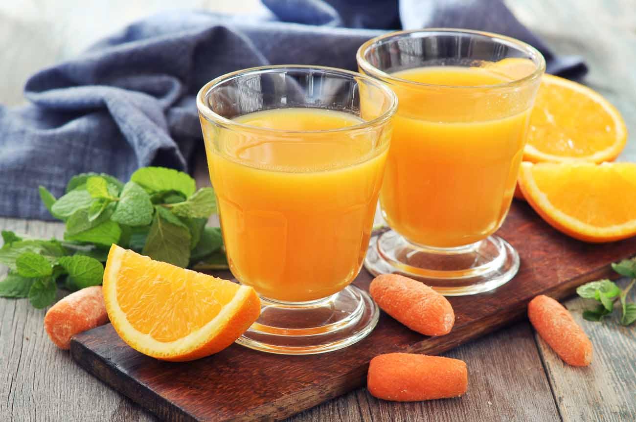 عصير البرتقال بالجزر